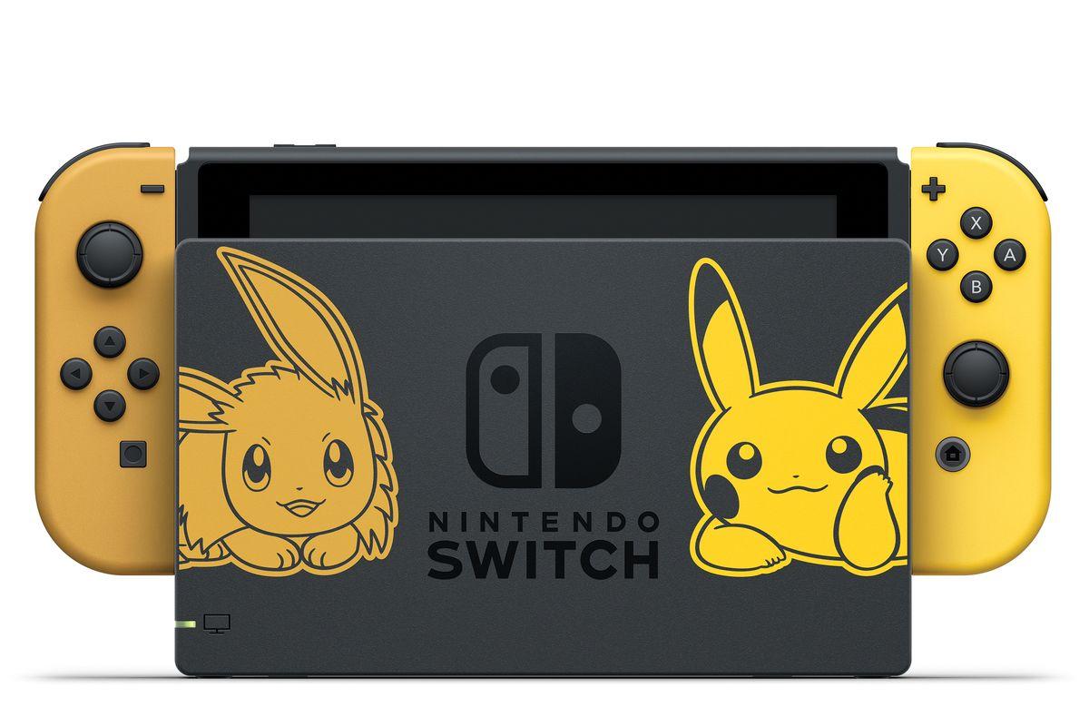 Nintendo anuncia Switch temático Pikachu eEevee